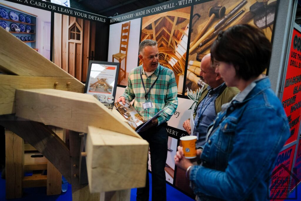 Joinery and made in cornwall furniture at Cornwall Home Improvement & Self Build Show