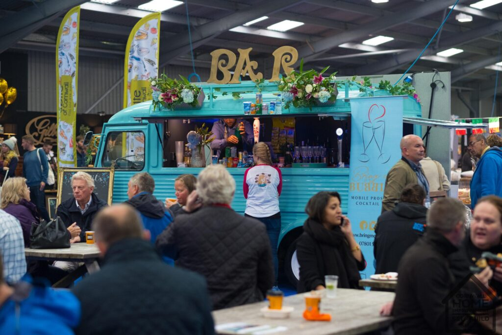 Bar and food truck at A Bite of Cornwall Food and Drink Market