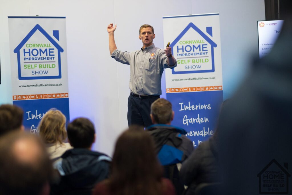 Cornwall Home Improvement & Self Build Show successful seminars helping visitors learn something new