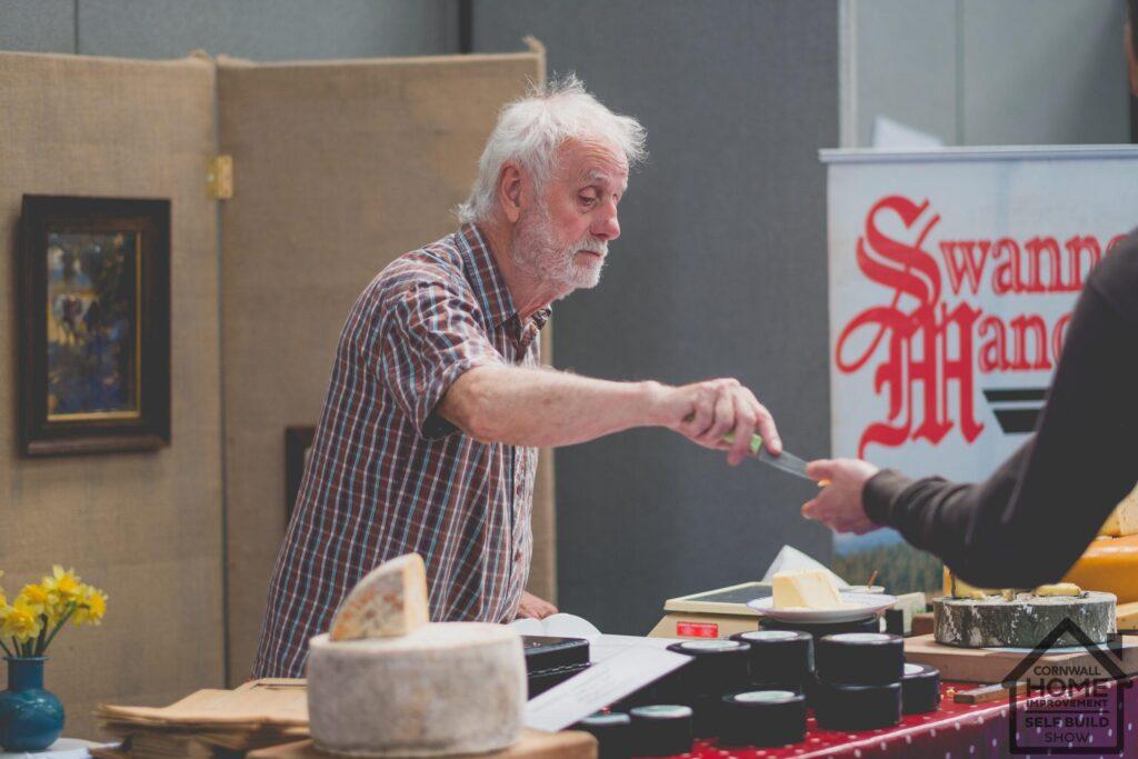 Cheese sampling at A Bite of Cornwall Food and Drink Market