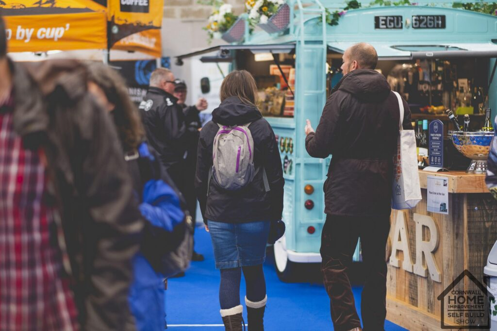 A busy Food and Drink Market at Cornwall Home Improvement & Self Build Show