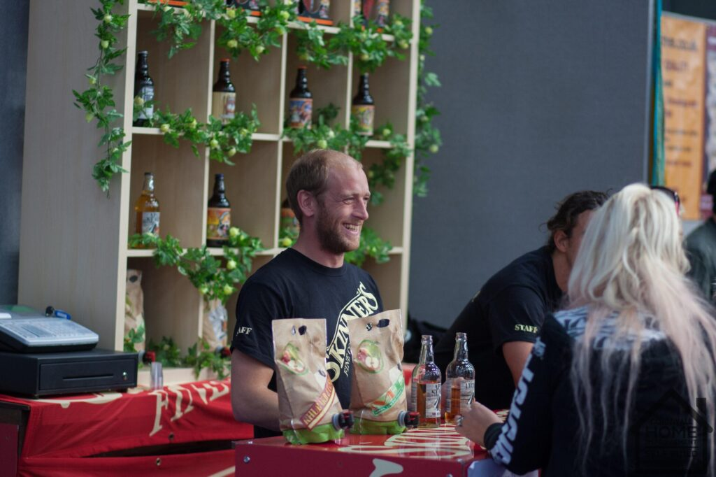 Skinner's serving fine ales at that exhibition stand