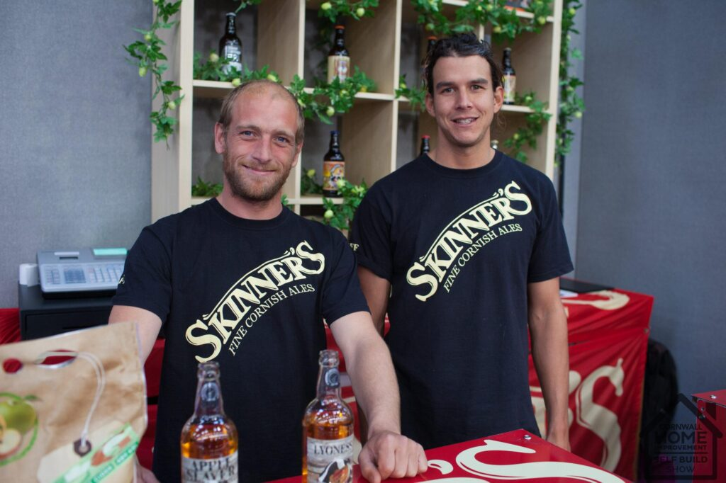 Two employees from Skinner's at A Bite of Cornwall food market