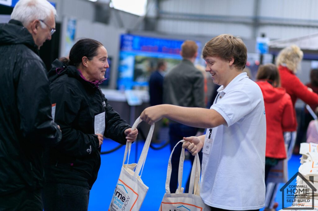 Free branded bags at the Cornwall Home Improvement & Self Build Show